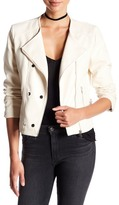 Bagatelle Asymmetrical Zip Faux Leather Jacket