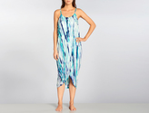 Green Dragon Tie Die Wrap Dress
