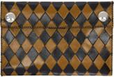 Wales Bonner Black and Yellow Chapal Edition Diamond Wallet