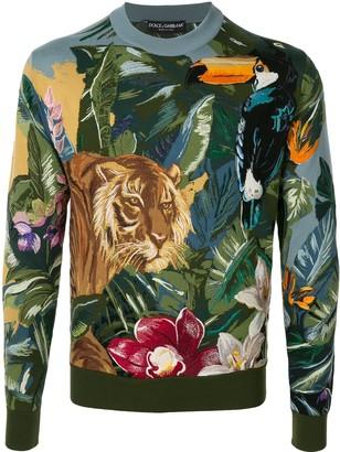 Dolce & Gabbana Jungle Intarsia Jumper