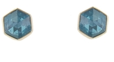 Jamie Joseph Inverted Hexagonal Swiss Blue Topaz Stud Earrings