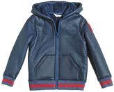 Little Marc Jacobs Nylon & Faux Fur Hooded Jacket