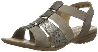 Remonte R3644, Women's Wedge Heels Sandals, Gold (Steel/antique/schwarz/cigar/25), (38 EU)