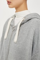 Topshop Ruched Sleeve Hoodie by Boutique