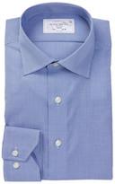 Lorenzo Uomo Trim Fit Micro Check No Wrinkle Dress Shirt