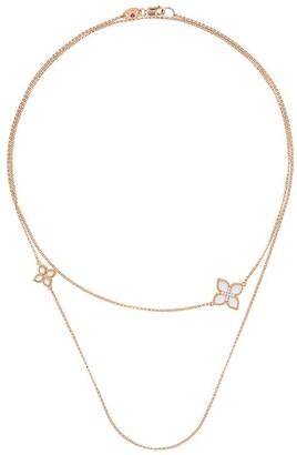 Roberto Coin 18kt rose gold Princess Flower wrap around necklace