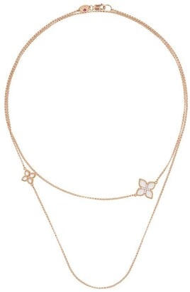 Roberto Coin Princess Flower wrap around necklace