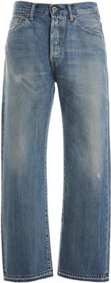 Chimala Cropped Selvedge Denim Straight-Leg Jeans