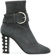 Giuseppe Zanotti Design studded heel ankle boots - women - Suede/Leather - 39