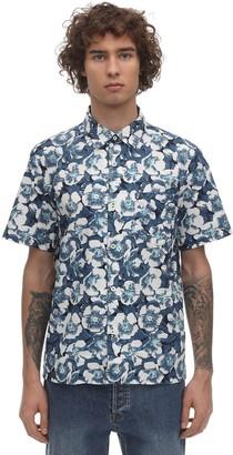 A.P.C. Joseph Floral Cotton Short Sleeve Shirt