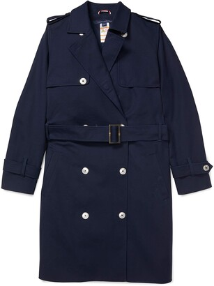 Tommy Hilfiger Women's Adaptive Classic Trench Coat with Magnetic Buttons