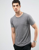 Selected Raglan T-shirt with Curved Hem