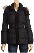 Juicy Couture - Hooded Diamond Puffa w/ Ruffles (Black)