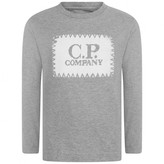 C.P. Company C.P. CompanyBoys Grey Top With Knitted Logo
