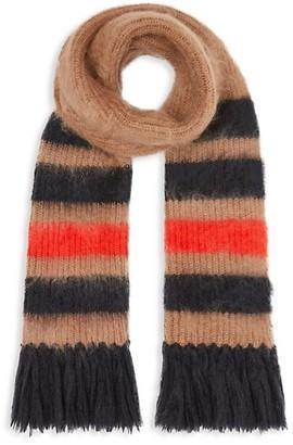 Burberry Icon Stripe Mohair & Silk Scarf