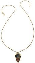 Heather Hawkins Kiss Necklace In Jasper Agate Arrowhead