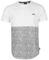 Fabric Mens Splatter Raglan T Shirt Crew Neck Tee Top Short Sleeve Lightweight