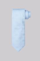 Moss Bros Blue Floral Silk Tie