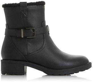 Roberto Vianni Poesy Faux Fur Lined Low Block Heel Boots