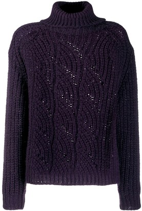 BA&SH Azure roll-neck jumper