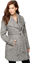 A Pea in the Pod Textured Wrap Maternity Coat