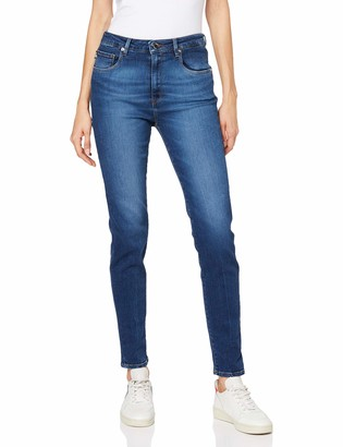 Love Moschino Women's High Waist Skinny Fit Denim Trousers_Logo On The Back Pocket Jeans