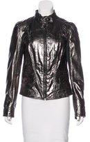 Dolce & Gabbana Metallic Leather Jacket w/ Tags