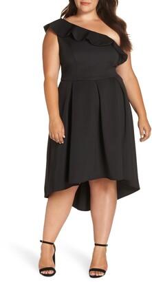 Chi Chi London One-Shoulder Dip Midi Dress