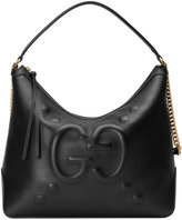 Gucci Embossed GG leather hobo bag