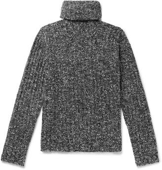 Dolce & Gabbana Slim-Fit Ribbed Virgin Wool-Blend Boucle Rollneck Sweater