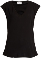 Frame V-neck cotton-jersey T-shirt