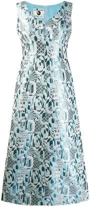 A.N.G.E.L.O. Vintage Cult 1970's Geometric Jacquard Gown