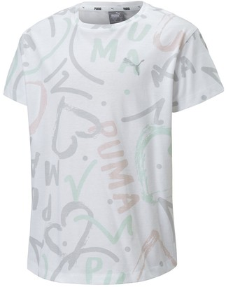 Puma Printed Cotton T-Shirt, 8-16 Years