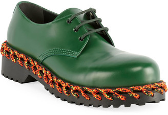Balenciaga Men's Braided Derby Shoes