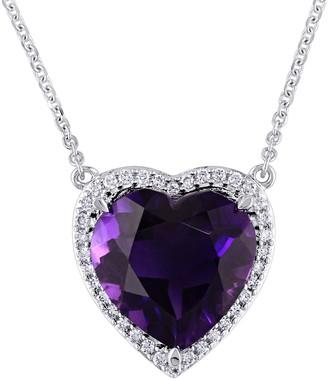 Bellini 5.35 ct Amethyst & 1/6 cttw Diamond Heart Necklace
