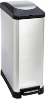 Container Store Stainless Steel 12 gal. Rectangle Step Can