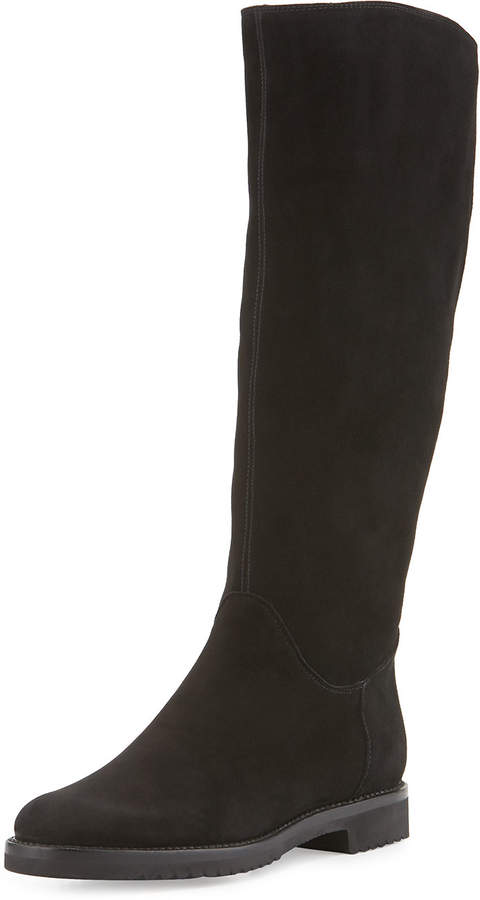 Gravati Tall Suede Boot, Black