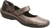 Ros Hommerson Pewter & Black Carissa Leather Mary Jane