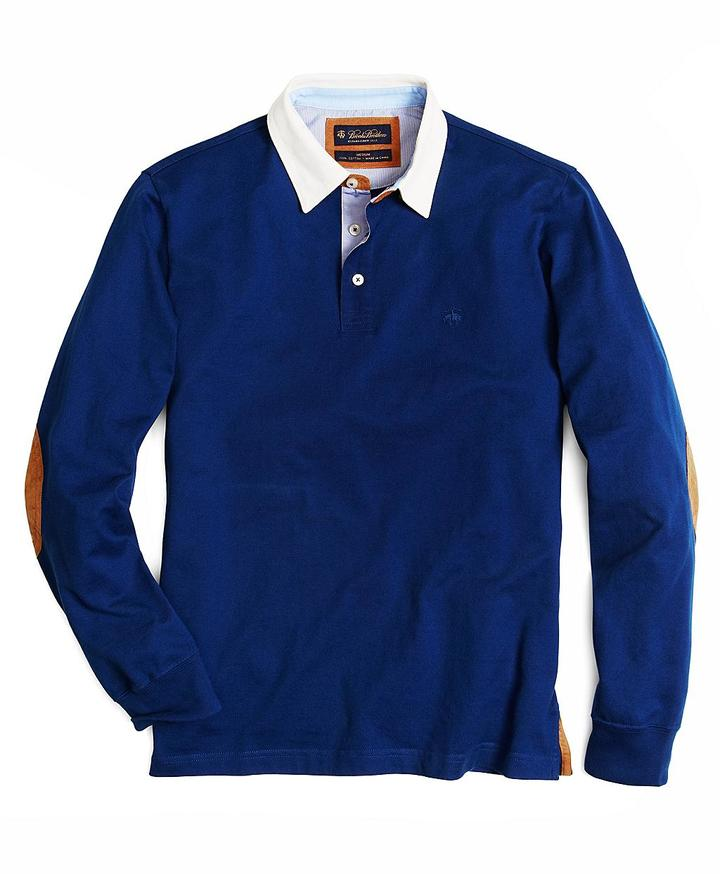 Brooks Brothers Woven Collar Polo