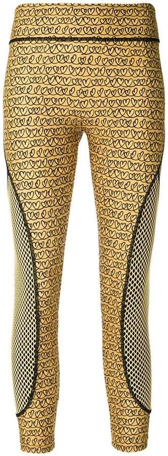 Fendi heart-print cropped leggings