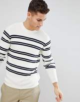 Selected Knitted Sweater With Stripe