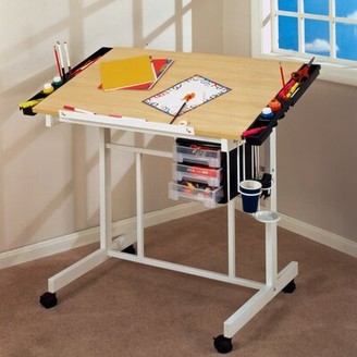 Studio Designs Deluxe Drafting Table Color: Maple / White