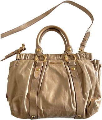 Miu Miu Bow bag Beige Leather Handbags