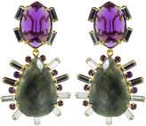 Bounkit Jewelry 2-in-1 Amethyst, Green Amethyst, and Lemon Quartz Earrings