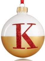 Holiday Lane Glass Initial Ball Ornament
