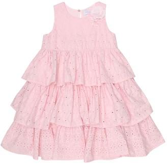 MonnaLisa Broderie-anglaise cotton dress
