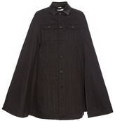 Givenchy Button-down denim cape