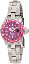 Invicta 11441 Women's Pro Diver Pink Bezel Dial Stainless Steel Dive Watch