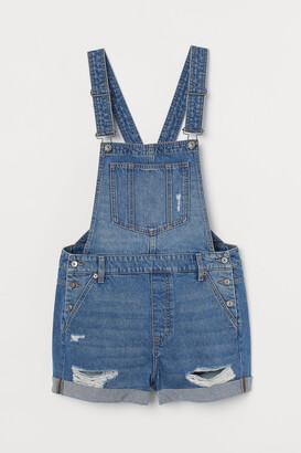 H&M Denim Overall Shorts