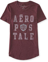 Aeropostale Womens Aero Heritage Nyc Shield Graphic T Shirt Red